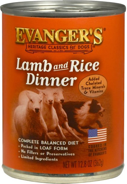 Evanger's Classic Recipes Lamb & Rice Dinner Canned Dog Food, 20.2-oz