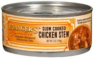 Evanger's Signature Series Slow Cooked Chicken Stew Grain-Free Canned Cat Food, 5.5-oz