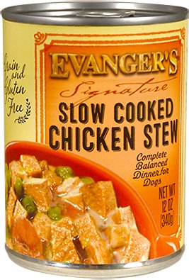 Evanger's Signature Series Slow Cooked Chicken Stew Grain-Free Canned Dog Food, 12-oz