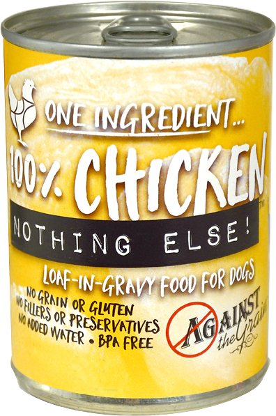 Against the Grain NothingElseChicken Grain-Free Canned Dog Food, 11-oz
