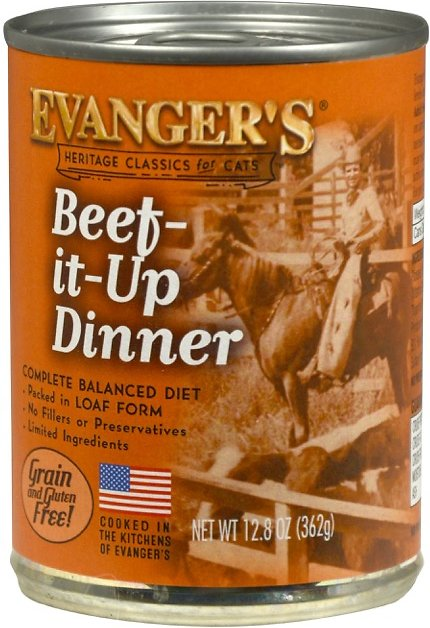 Evanger's Classic Recipes Beef it Up Dinner Grain-Free Canned Cat Food