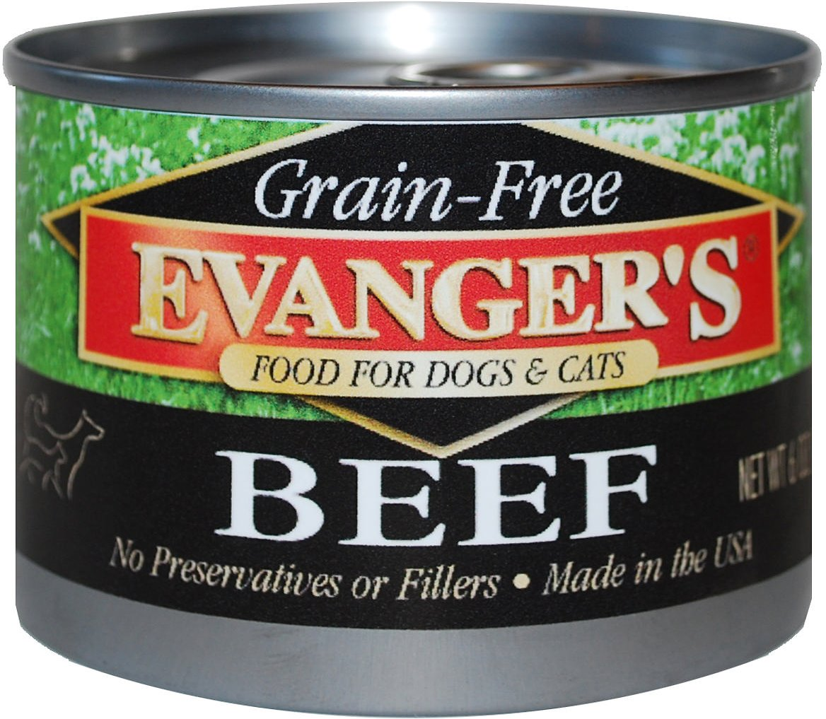 Evanger's Grain-Free Beef Canned Dog & Cat Food, 6-oz