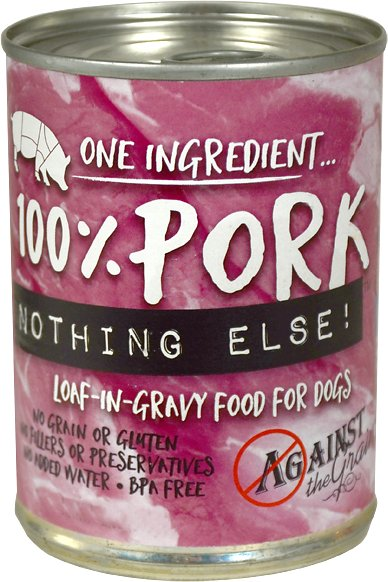 Against the Grain Nothing Else Pork Canned Grain-Free Dog Food, 11-oz