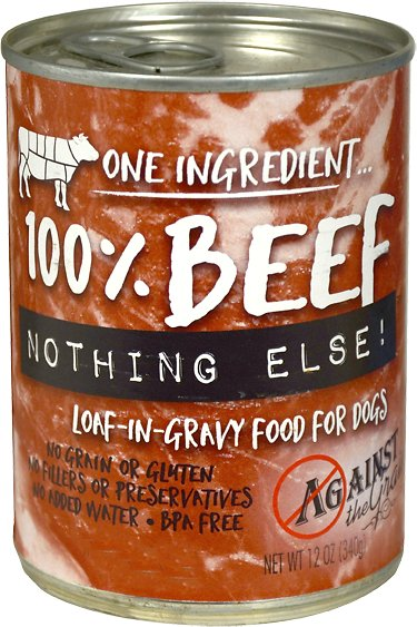 Against the Grain Nothing Else Beef Grain-Free Canned Dog Food, 11-oz