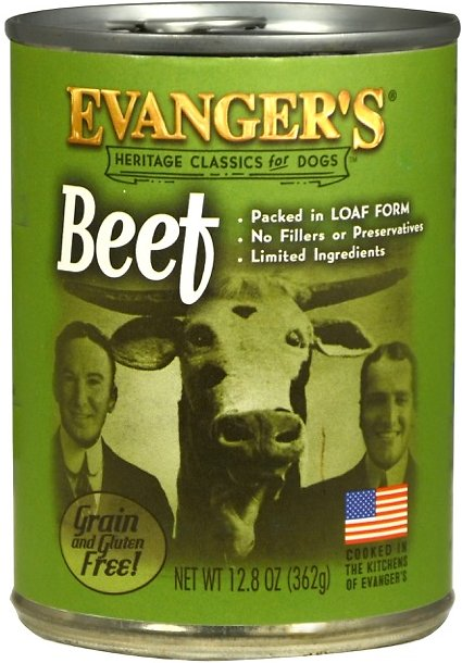 Evanger's Classic Recipes Beef Grain-Free Canned Dog Food, 12.8-oz
