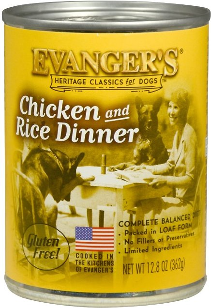 Evanger's Classic Recipes Chicken & Rice Canned Dog Food, 12.8-oz