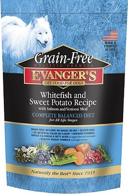 Evanger's Super Premium Whitefish & Sweet Potato Formula Grain-Free Dry Dog Food