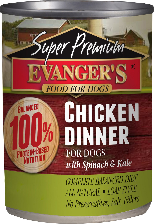 Evanger's Super Premium Chicken Dinner Grain-Free Canned Dog Food, 12.8-oz