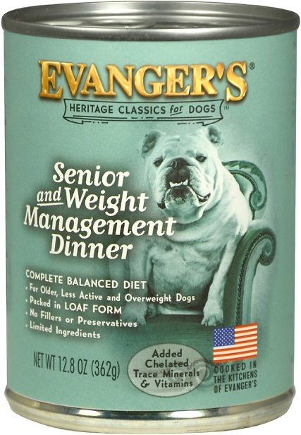 Evanger's Classic Recipes Senior & Weight Management Dinner Canned Dog Food, 12.8-oz