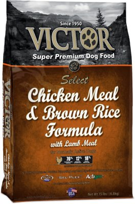 Victor Chicken Meal & Brown Rice with Lamb Meal Dry Dog Food, 15-lb bag