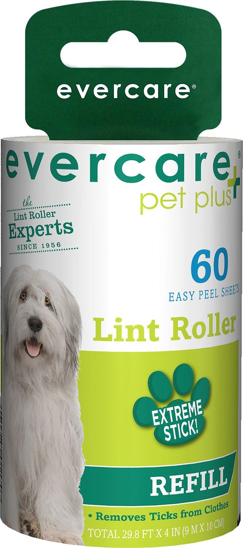 Evercare Pet Plus Extreme Stick Pet Lint Roller Refill, 60 sheets