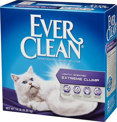 Ever Clean Lightly Scented Extreme Clump Cat Litter, 14-lb box