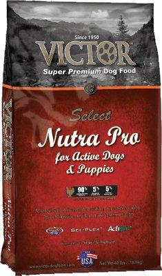 Victor Select Nutra Pro Active Dog & Puppy Formula Dry Dog Food, 15-lb bag