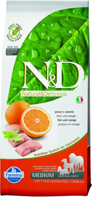 Farmina Natural & Delicious Wild Herring Grain-Free Formula Dry Dog Food, 5.5-lb bag