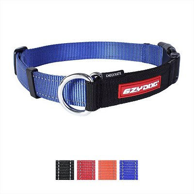 EzyDog Checkmate Dog Collar, Blue, X-Large
