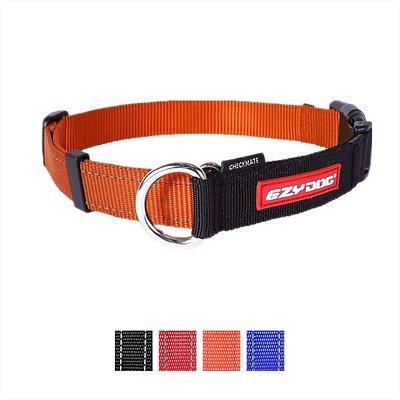 EzyDog Checkmate Dog Collar, Orange, Medium
