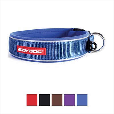 EzyDog Neo Classic Dog Collar, Blue, Medium