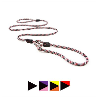EzyDog Luca All-In-One Dog Slip Collar & Leash, Red, Lite