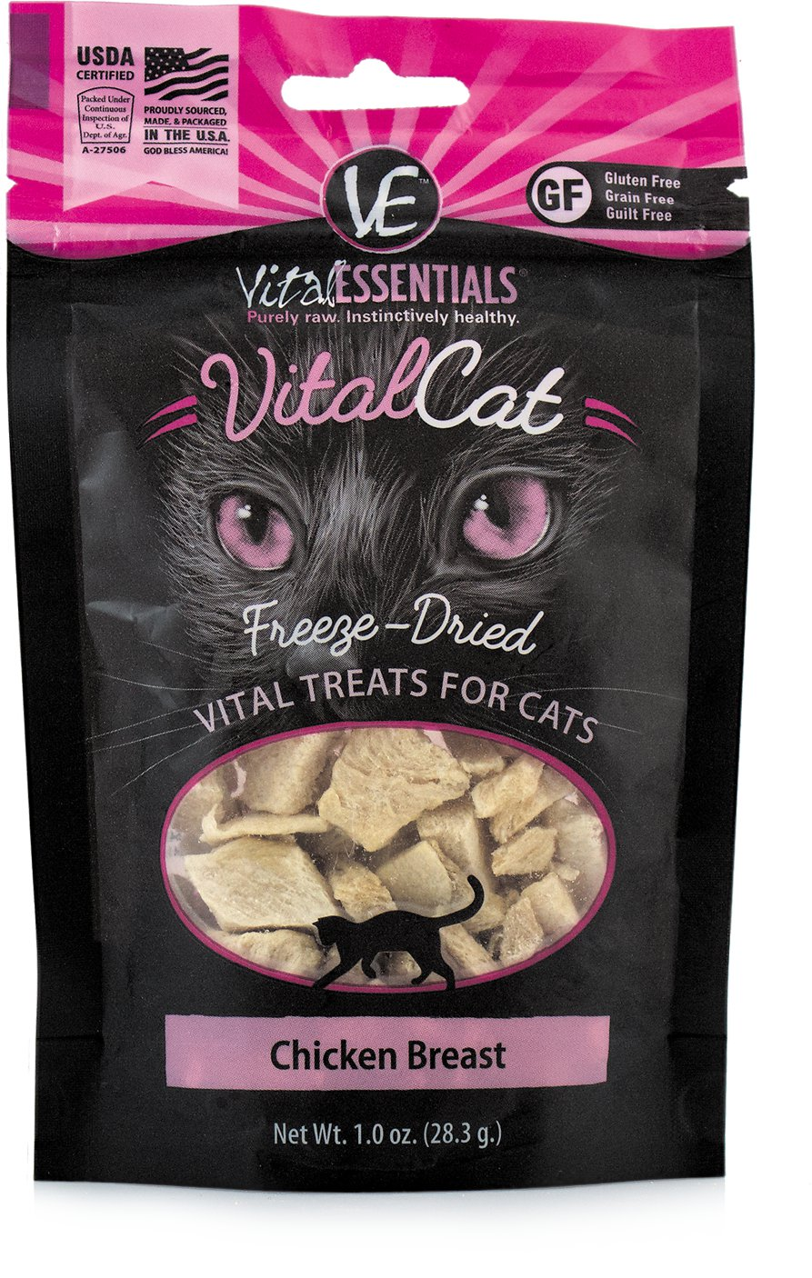 Vital Essentials Vital Cat Treats Chicken Breast Freeze-Dried Cat Treats, 1-oz bag