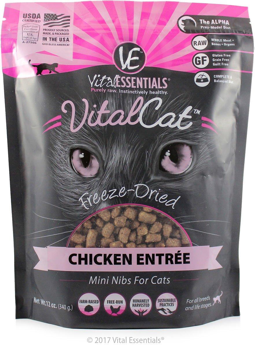 Vital Essentials Vital Cat Chicken Mini Nibs Entree Freeze-Dried Cat Food, 12-oz bag