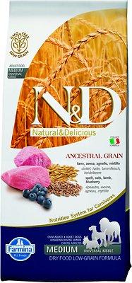Farmina Natural & Delicious Lamb & Ancestral Low-Grain Formula Dry Dog Food