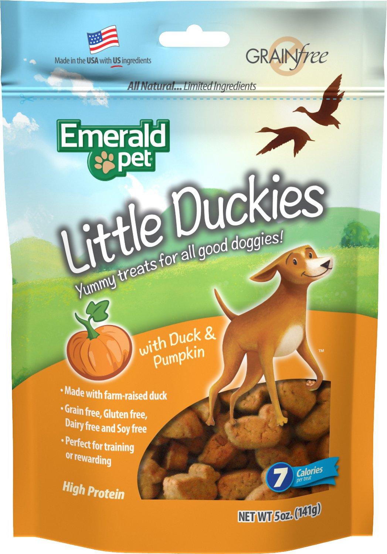 Emerald Pet Little Duckies with Duck & Pumpkin Dog Treats, 5-oz bag