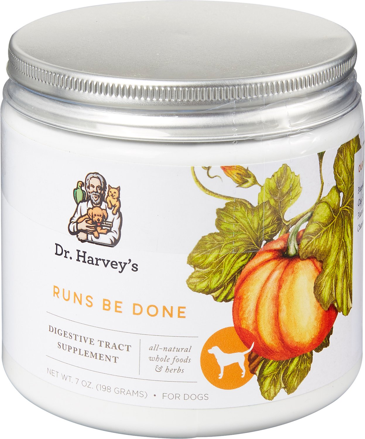 Dr. Harvey's Runs Be Done Digestive Tract Dog Supplement, 7-oz tin