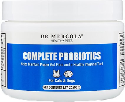 Dr. Mercola Complete Probiotics Dog & Cat Supplement, 3.17-oz jar