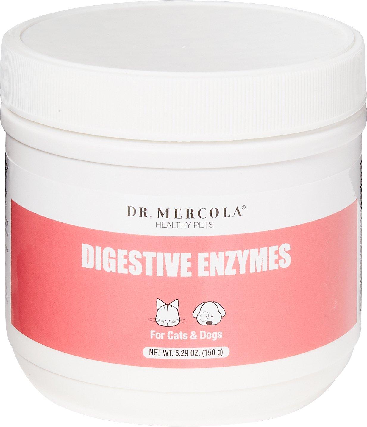 Dr. Mercola Digestive Enzymes Dog & Cat Supplement, 5.29-oz jar