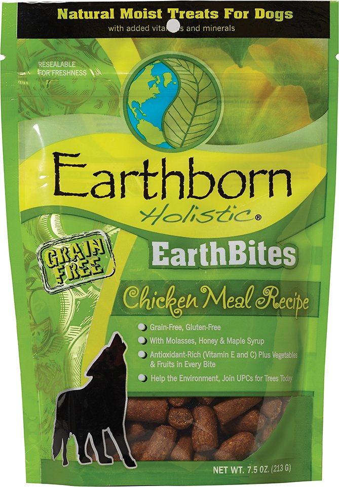 Earthborn Holistic EarthBites Chicken Meal Recipe Natural Moist Treats For Dogs, 7.5-oz bag