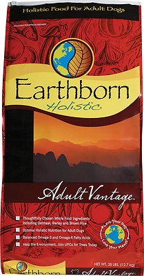Earthborn Holistic Adult Vantage Natural Dry Dog Food Weights: 28.0 pounds, Size: 28-lb bag