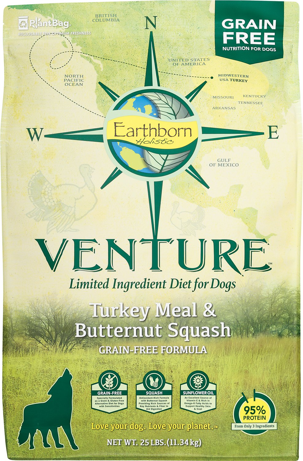 Earthborn Holistic Venture Turkey Meal & Butternut Squash Limited Ingredient Diet Grain-Free Dry Dog Food Image