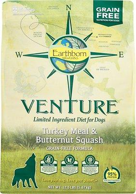 Earthborn Holistic Venture Turkey Meal & Butternut Squash Limited Ingredient Diet Grain-Free Dry Dog Food