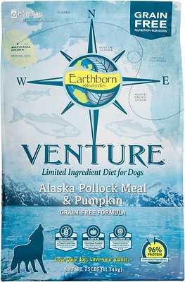 Earthborn Holistic Venture Alaska Pollock Meal & Pumpkin Limited Ingredient Diet Grain-Free Dry Dog Food