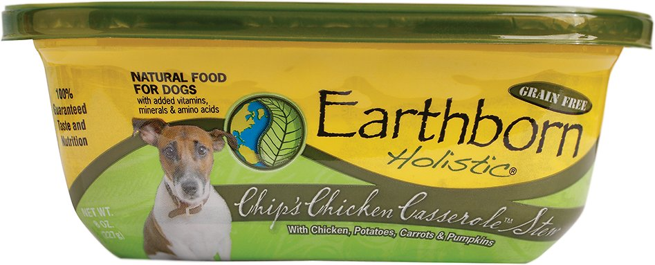 Earthborn Holistic Chip's Chicken Casserole Grain-Free Natural Moist Dog Food, 8-oz