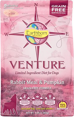 Earthborn Holistic Venture Rabbit Meal & Pumpkin Limited Ingredient Diet Grain-Free Dry Dog Food
