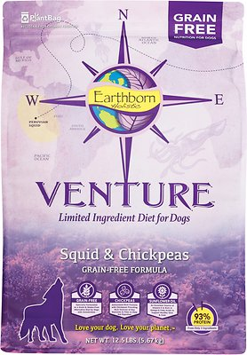 Earthborn Holistic Venture Squid & Chickpeas Limited Ingredient Diet Grain-Free Dry Dog Food