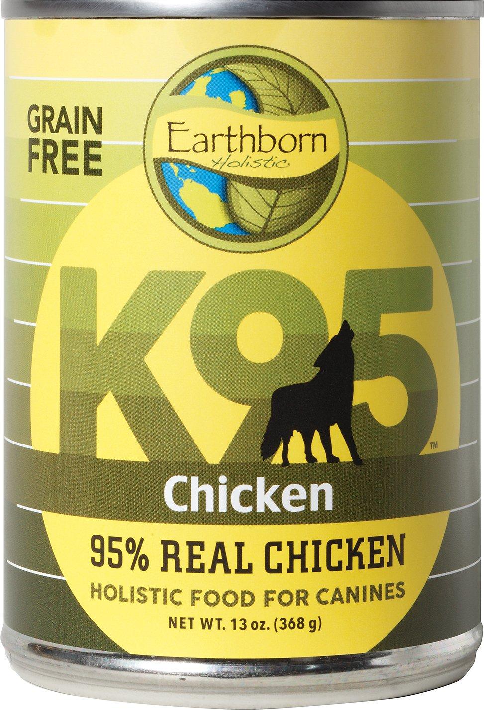 Earthborn Holistic K95 Chicken Recipe Grain-Free Canned Dog Food, 13-oz, case of 12
