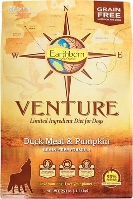 Earthborn Holistic Venture Duck Meal & Pumpkin Limited Ingredient Diet Grain-Free Dry Dog Food
