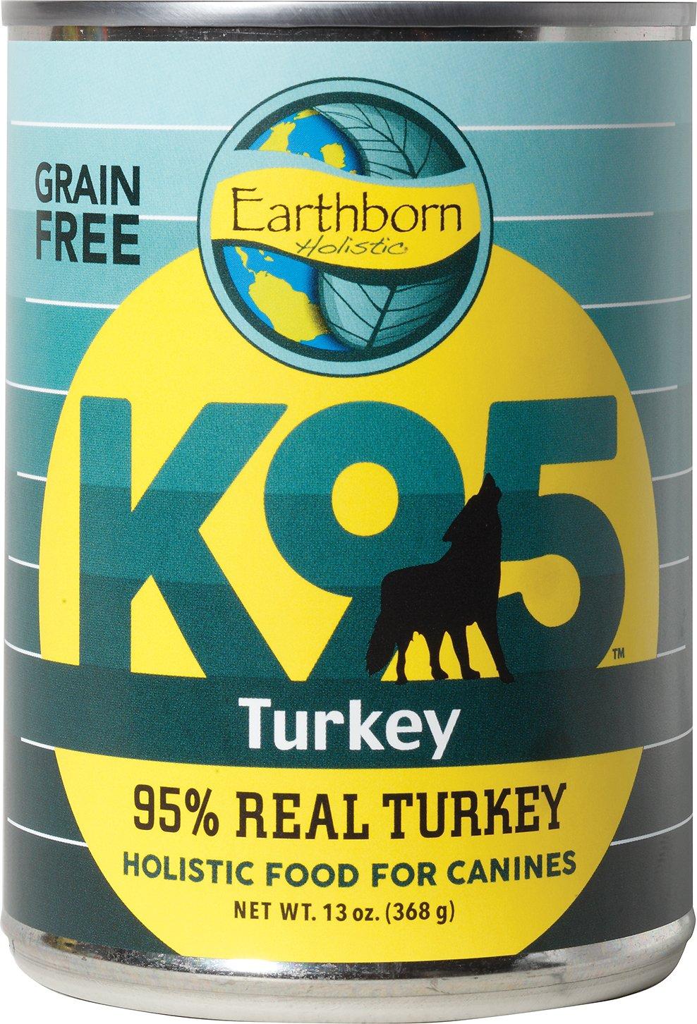 Earthborn Holistic K95 Turkey Recipe Grain-Free Canned Dog Food, 13-oz, case of 12