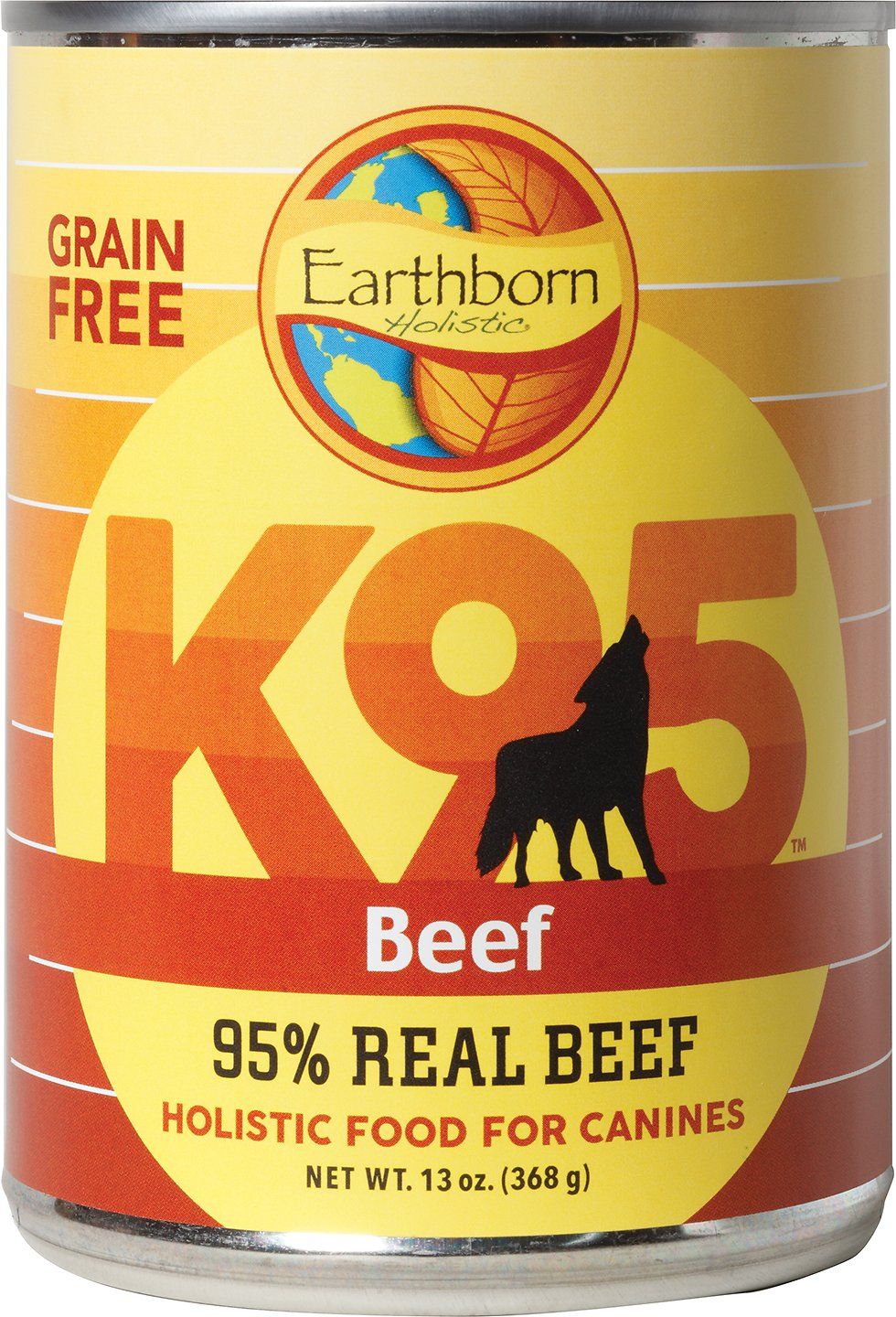 Earthborn Holistic K95 Beef Recipe Grain-Free Canned Dog Food, 13-oz