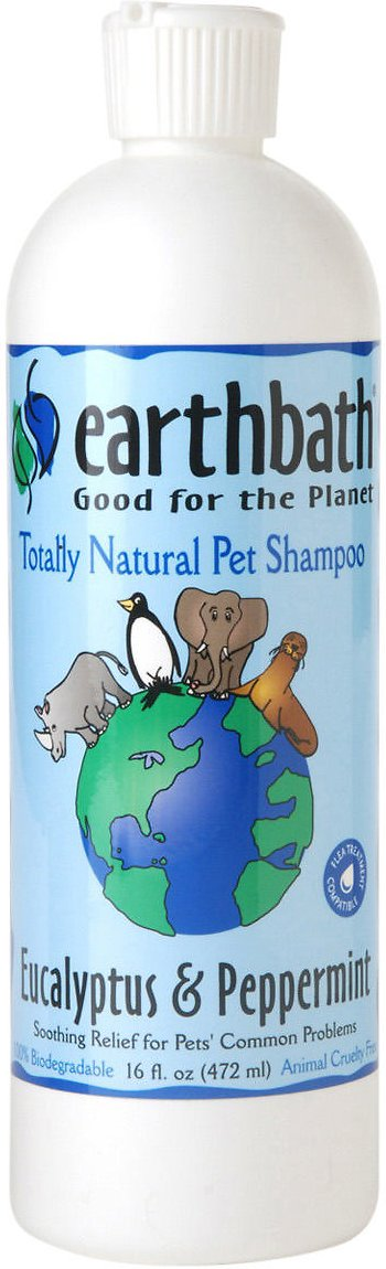 Earthbath Eucalyptus & Peppermint Dog & Cat Shampoo, 16-oz bottle
