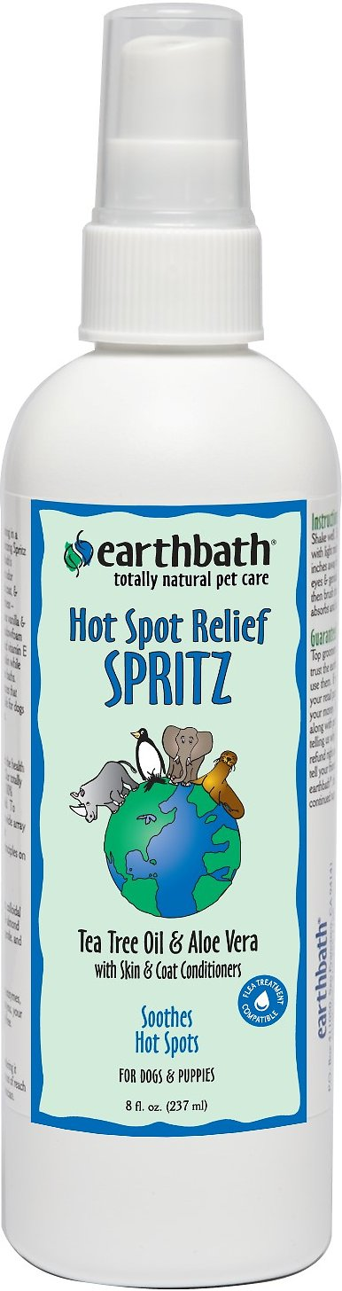 Earthbath Tea Tree Oil & Aloe Vera Hot Spot Relief Spritz for Dogs, 8-oz bottle