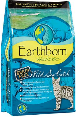 Earthborn Holistic Wild Sea Catch Grain-Free Natural Dry Cat & Kitten Food