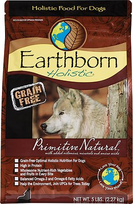 Earthborn Holistic Primitive Natural Grain-Free Natural Dry Dog Food, 5-lb