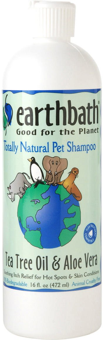 Earthbath Hot Spot Relief Tea Tree & Aloe Dog & Cat Shampoo, 16-oz bottle