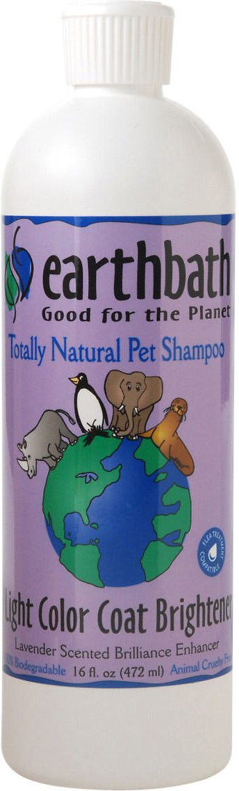 Earthbath Light Color Coat Brightening Lavender Dog & Cat Shampoo, 16-oz bottle