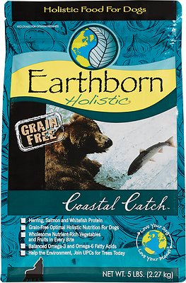 Earthborn Holistic Coastal Catch Grain-Free Natural Dry Dog Food Weights: 5.0 pounds, Size: 5-lb bag