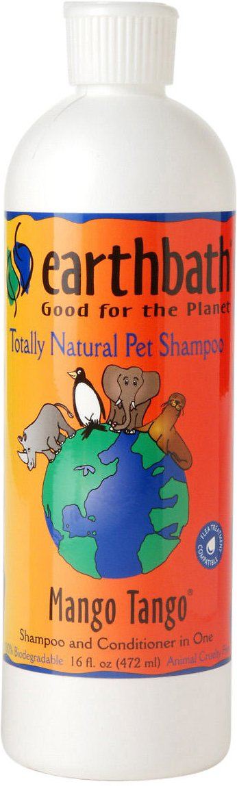 Earthbath 2-in-1 Mango Tango Conditioning Dog & Cat Shampoo, 16-oz bottle