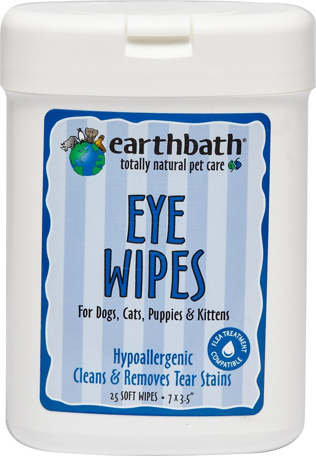 Earthbath Eye Wipes for Dogs & Cats, 25 count